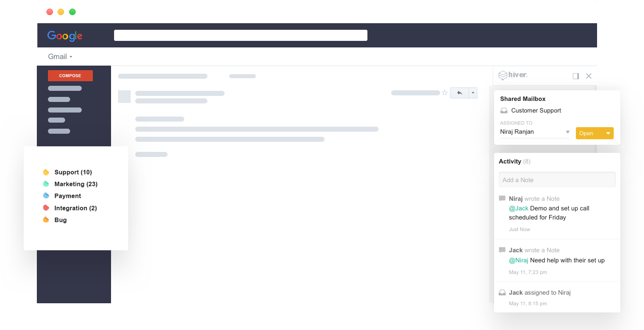 Hiver plugin gmail
