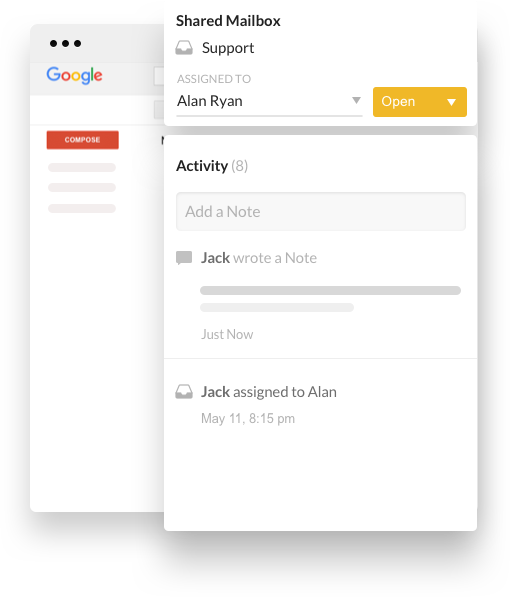 Hiver extension preview in Gmail